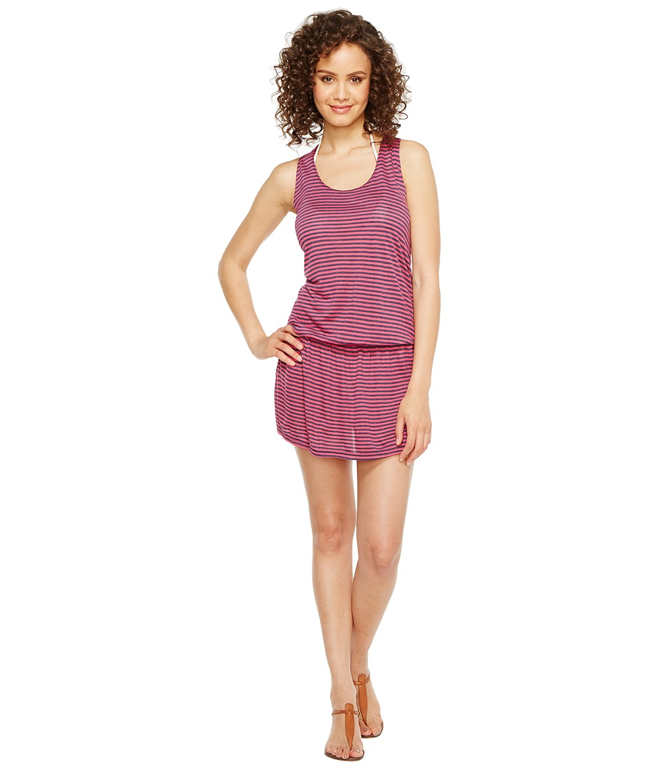 Splendid - Malibu Stripe Dress Cover-Up (Pink) Women's Dress