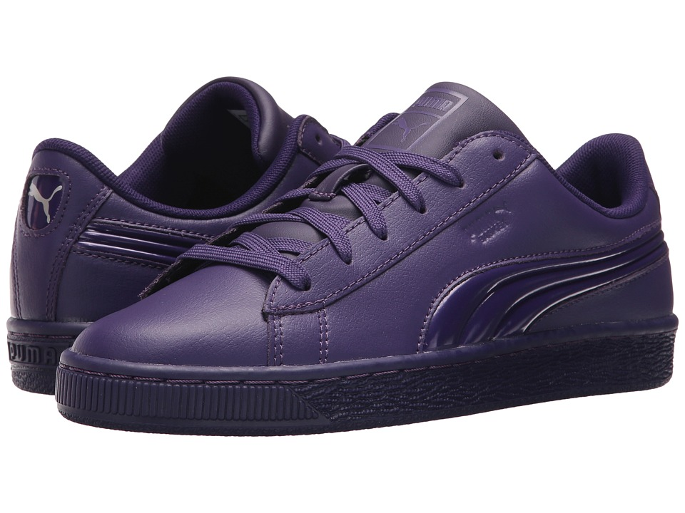 Puma Kids Basket Classic 3D FS (Big Kid) (Violet Indigo/Violet Indigo) Girls Shoes