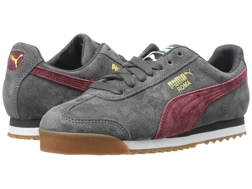 Puma Kids Roma Gents (Big Kid) (Asphalt/Cordovan) Boys Shoes