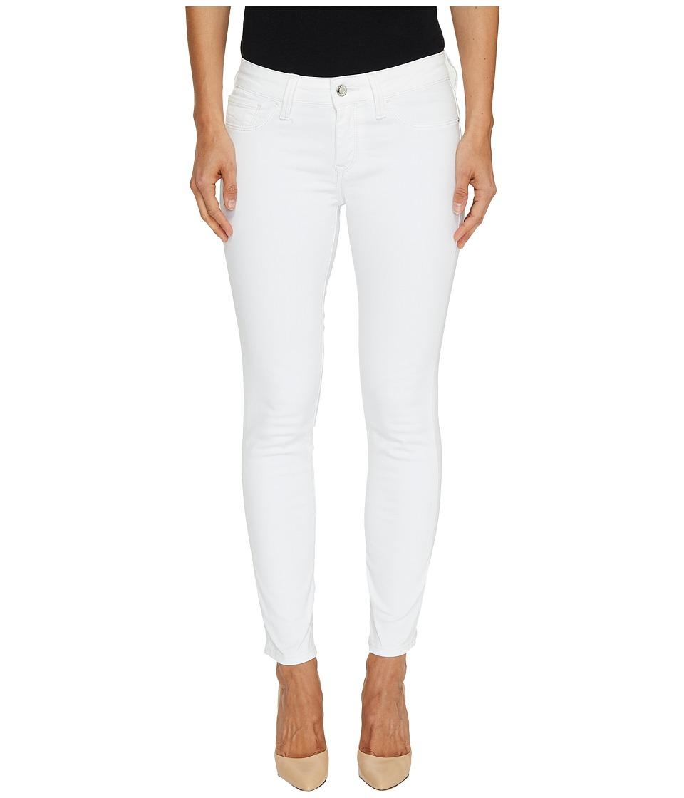 Mavi Jeans Adriana Mid-Rise Skinny Ankle in Super White (Super White) Women