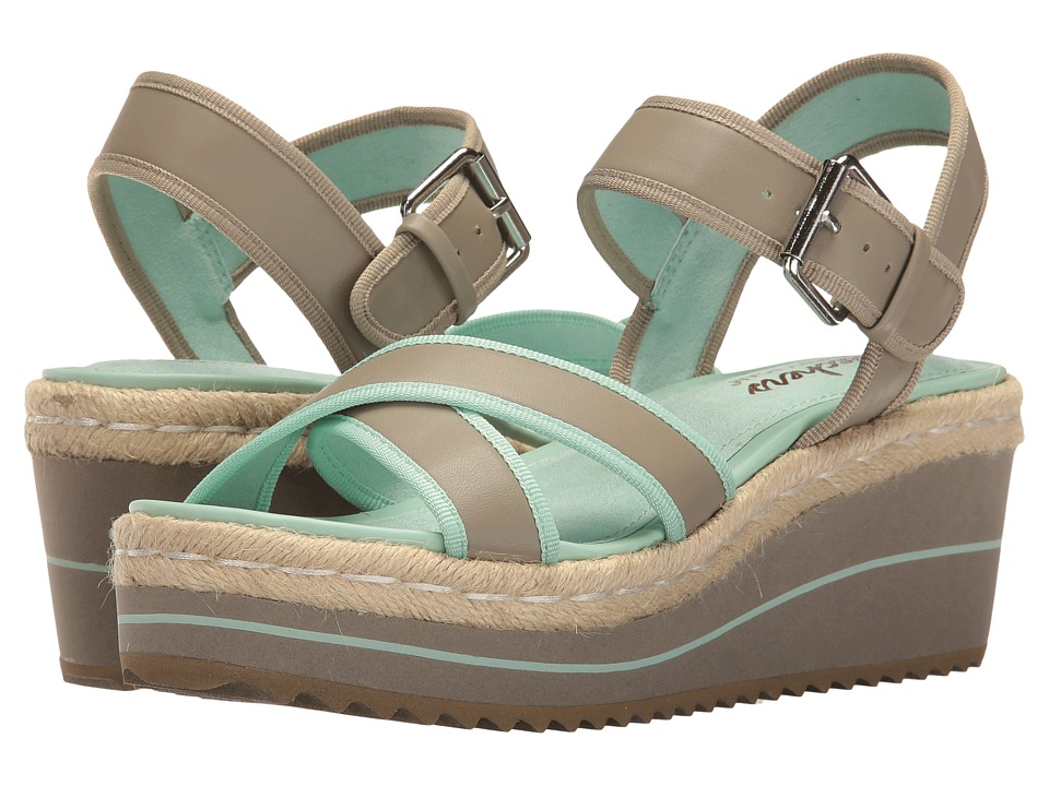 SKECHERS - Heart Breaker (Taupe/Aqua Blue) Women's Sandals