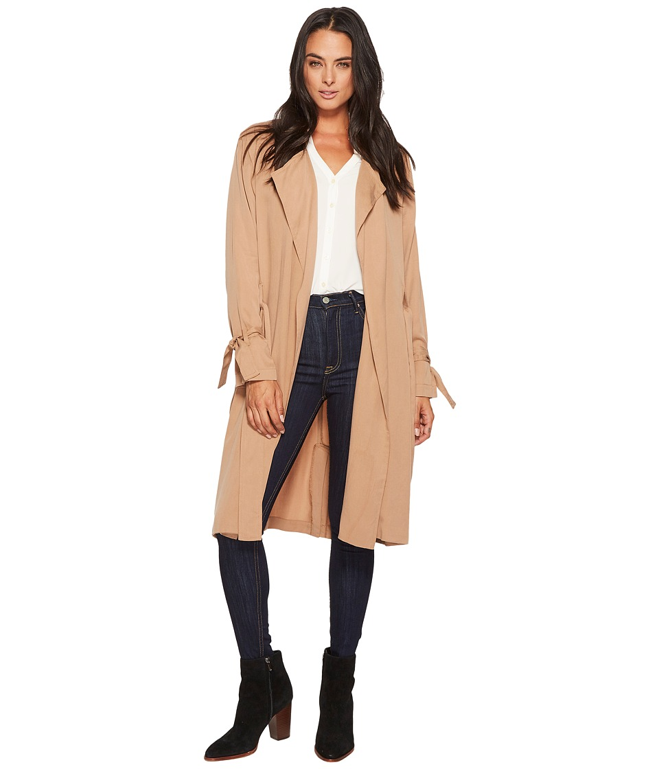 Splendid - Drape Trench Coat (Dark Macadamia) Women's Coat