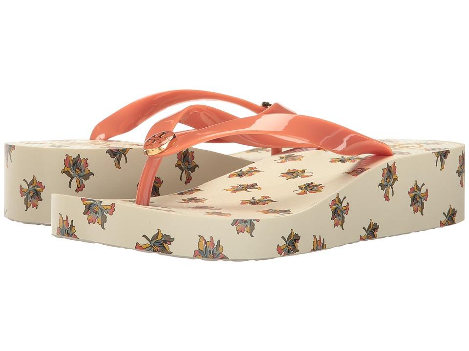 Tory Burch - Wedge Flip-Flop (Lotus Flower) Women's Sandals