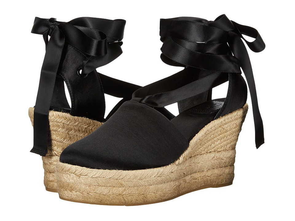 Tory Burch - Elisa 90mm Wedge Espadrille (Black) Women's Wedge Shoes