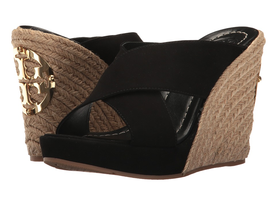Tory Burch - Bailey 110mm Wedge Mule (Black) Women's Wedge Shoes