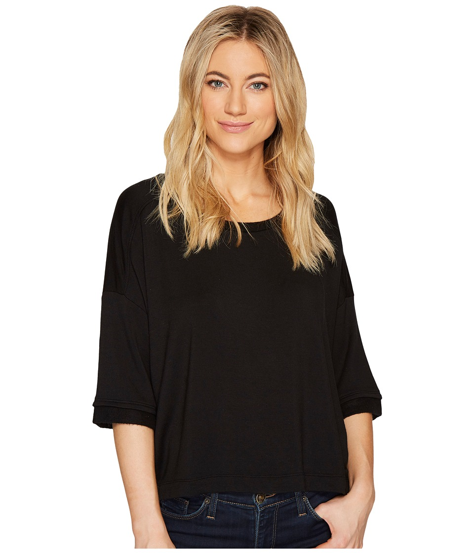 Splendid - Oversize Tee (Black) Women's T Shirt