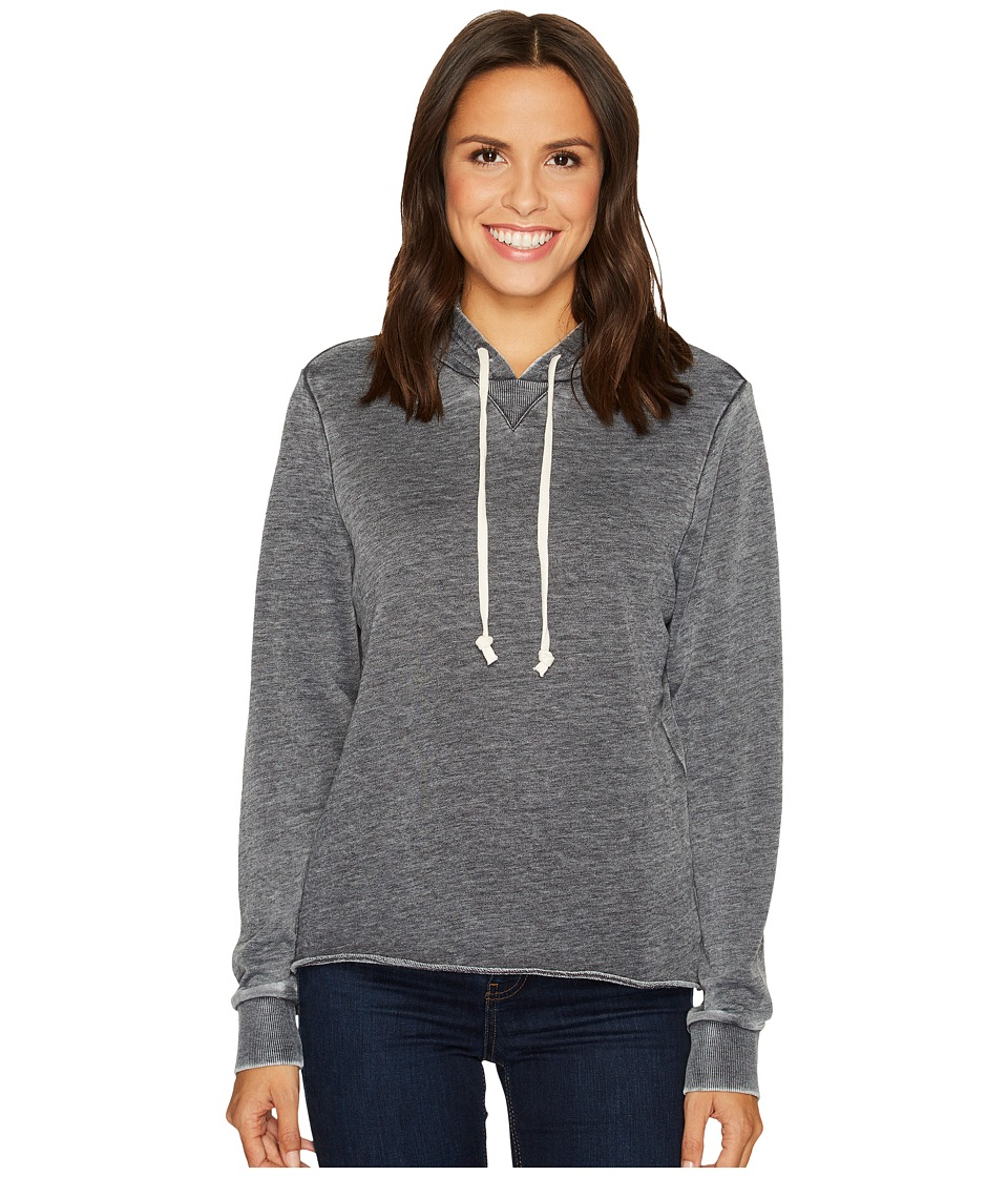 Alternative Burnout French Terry Day Off Hoodie (Washed Black) Women