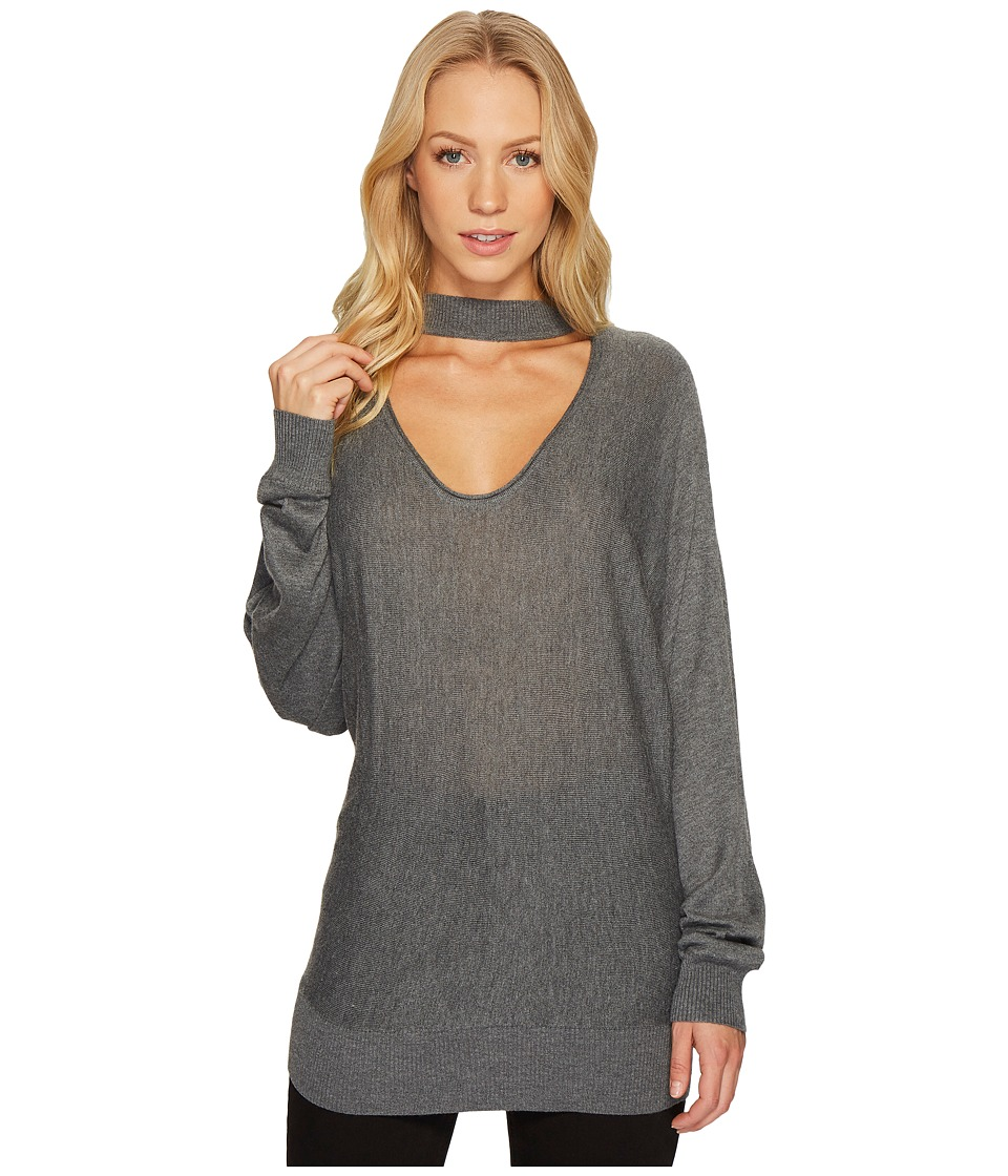 Splendid - Cut Out Pullover (Heather Cinder) Women's Clothing