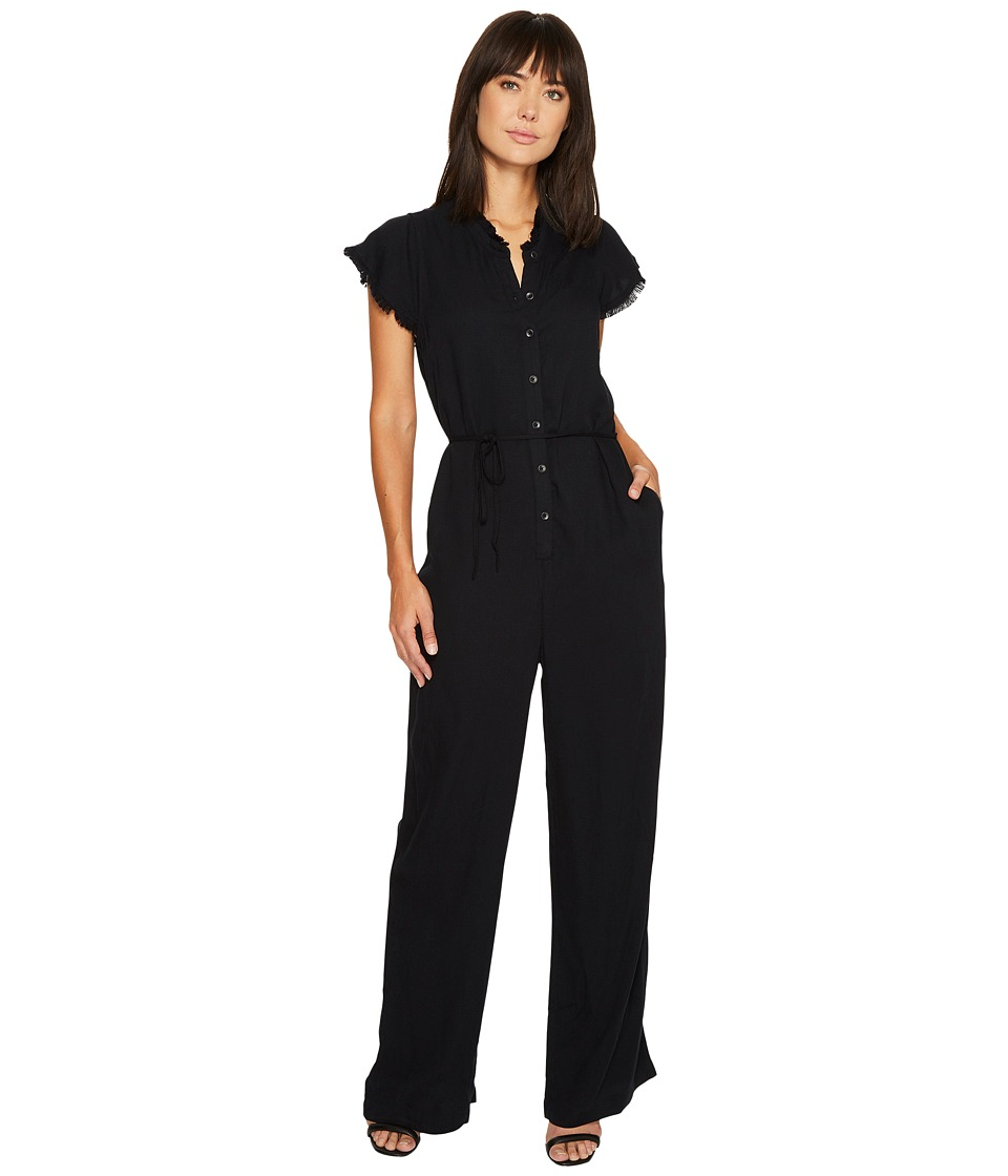 Splendid - Ruffle Play Suit (Black) Women's Jumpsuit & Rompers One Piece