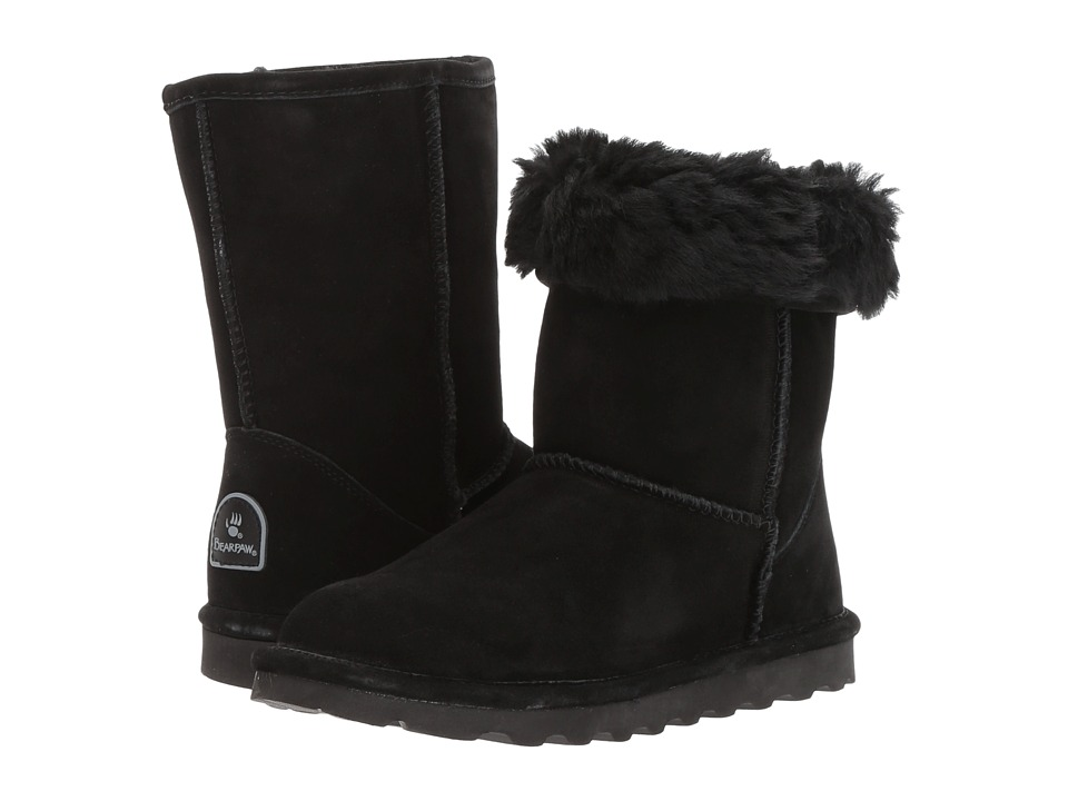 Bearpaw - Elle Short (Black) Women's Shoes