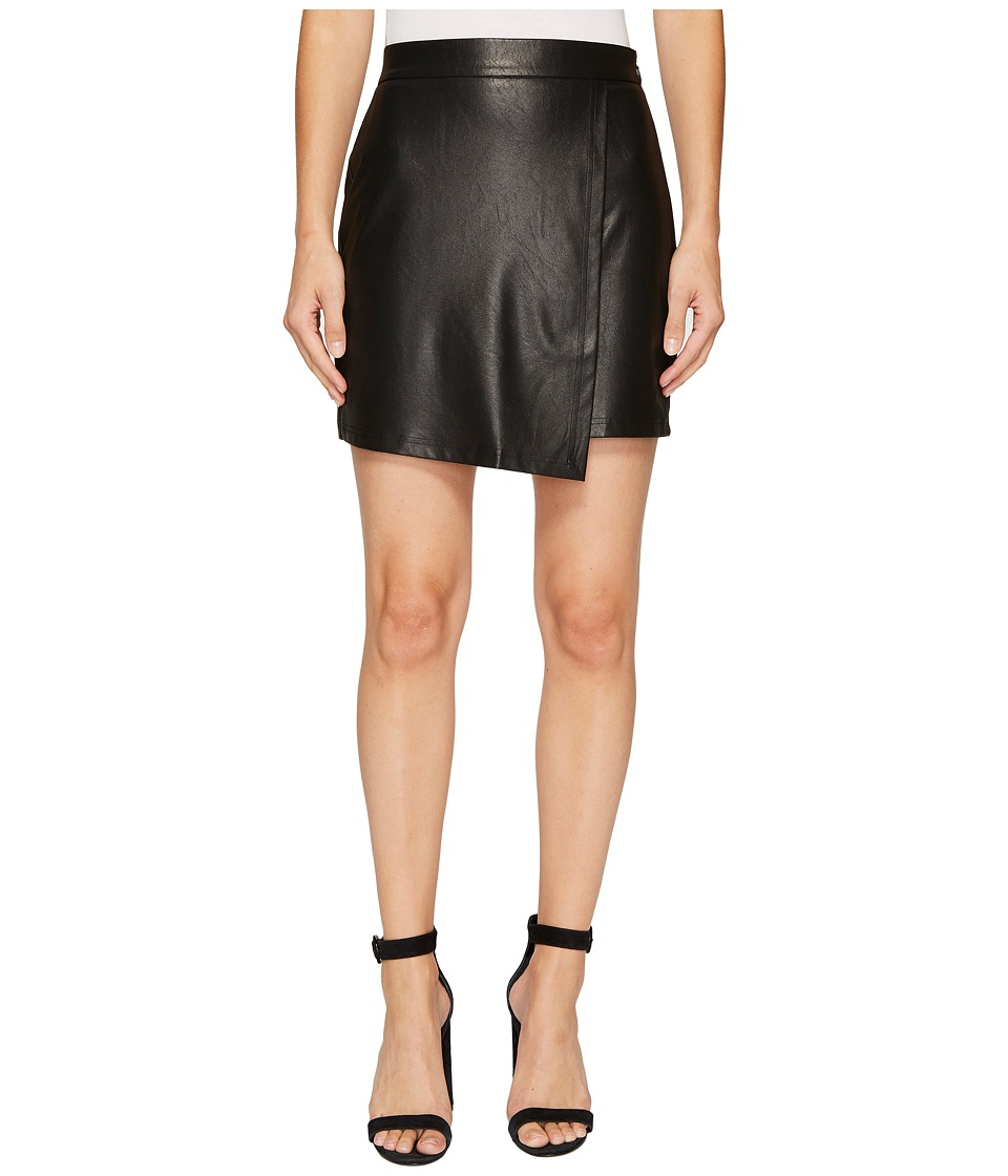 Splendid - Faux Leather Skirt (Black) Women's Skirt
