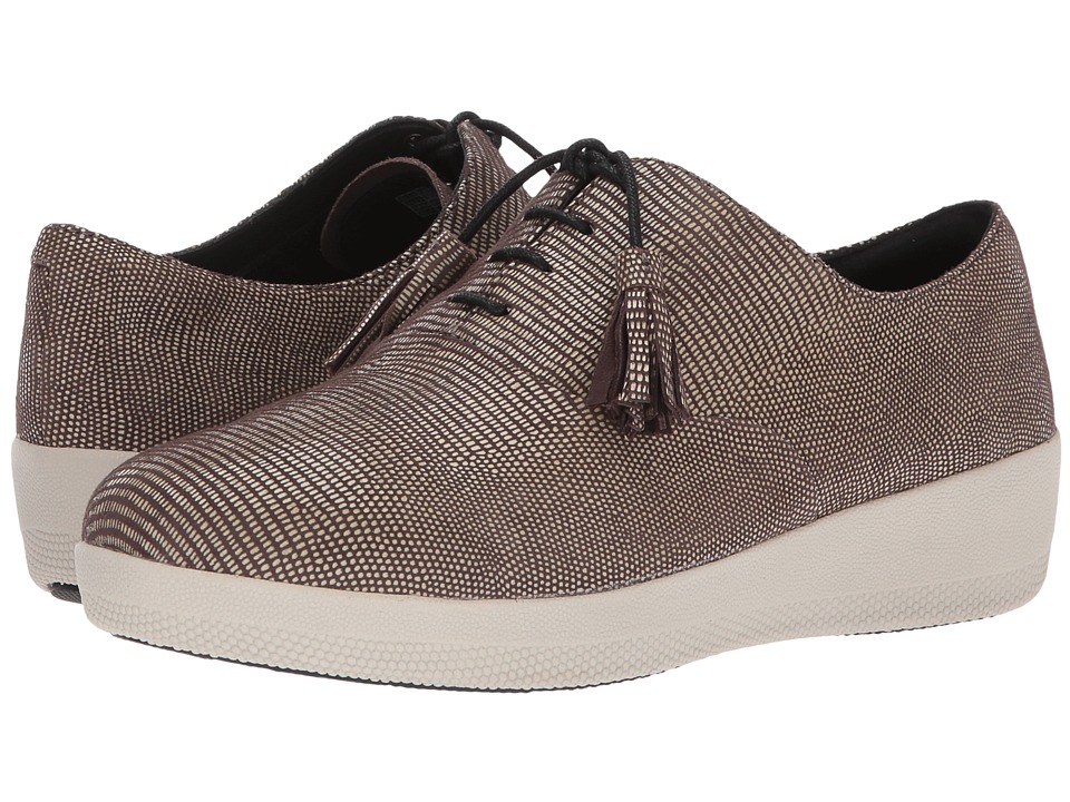 FitFlop Classic Tassel Superoxford Lizard Print (Chocolate Brown) Women
