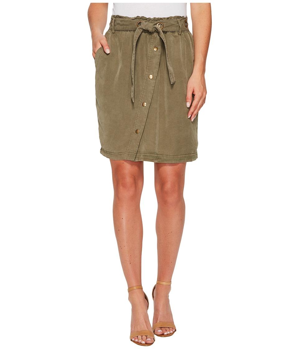 Splendid Paperbag Waist Skirt (Vintage Olivine) Women's Skirt