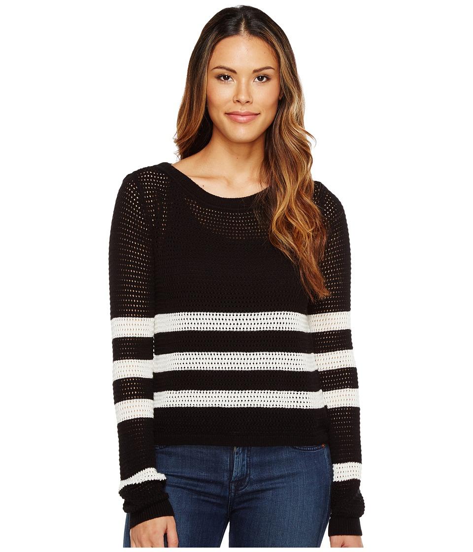 Splendid - Stripe Pullover (Black/Natural) Women's Clothing