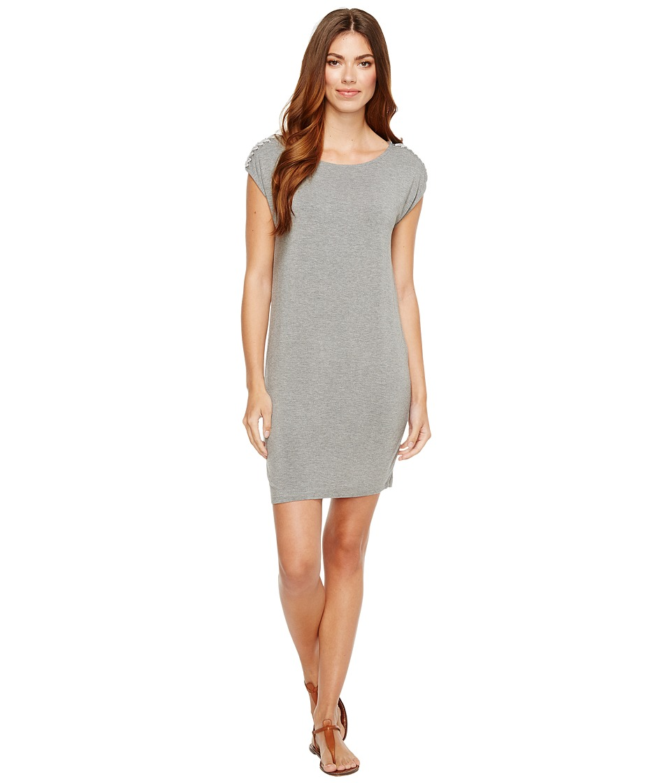 Splendid - Braided Shoulder Dress (Heather Grey) Women's Dress