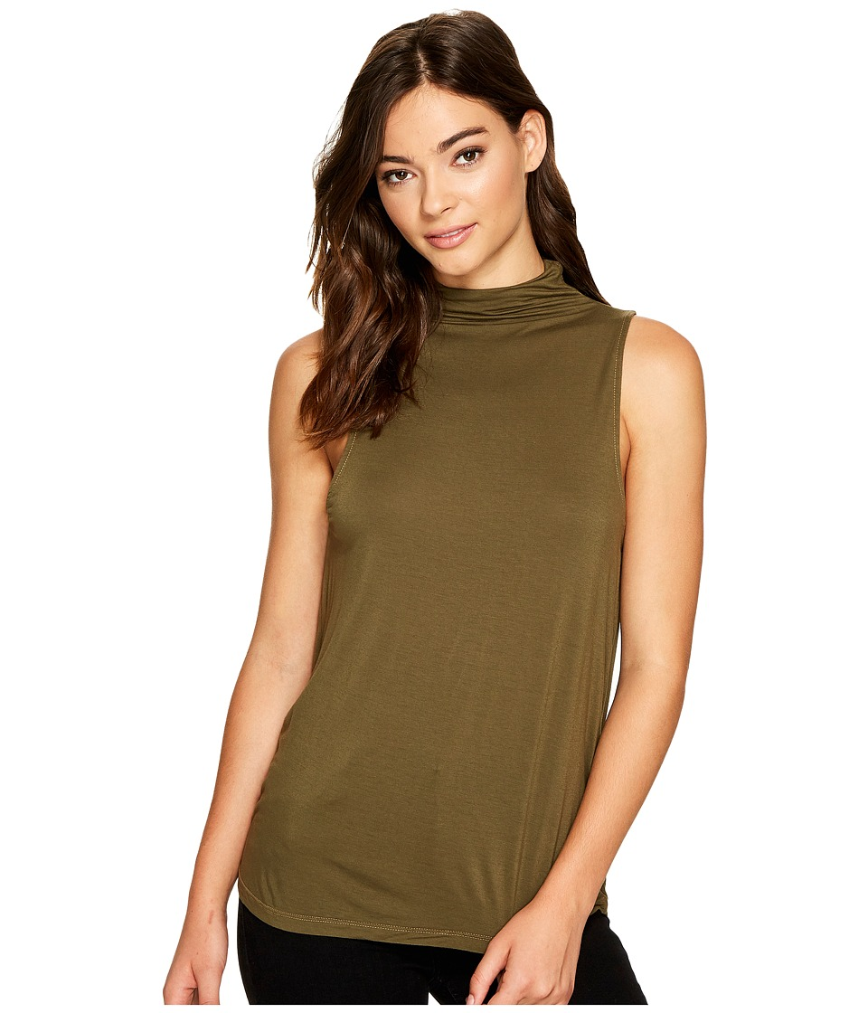Splendid - Mock Neck Tank Top (Olivine) Women's Sleeveless