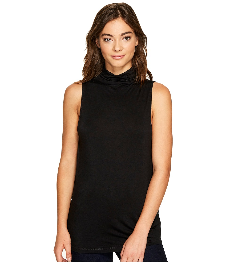Splendid - Mock Neck Tank Top (Black) Women's Sleeveless