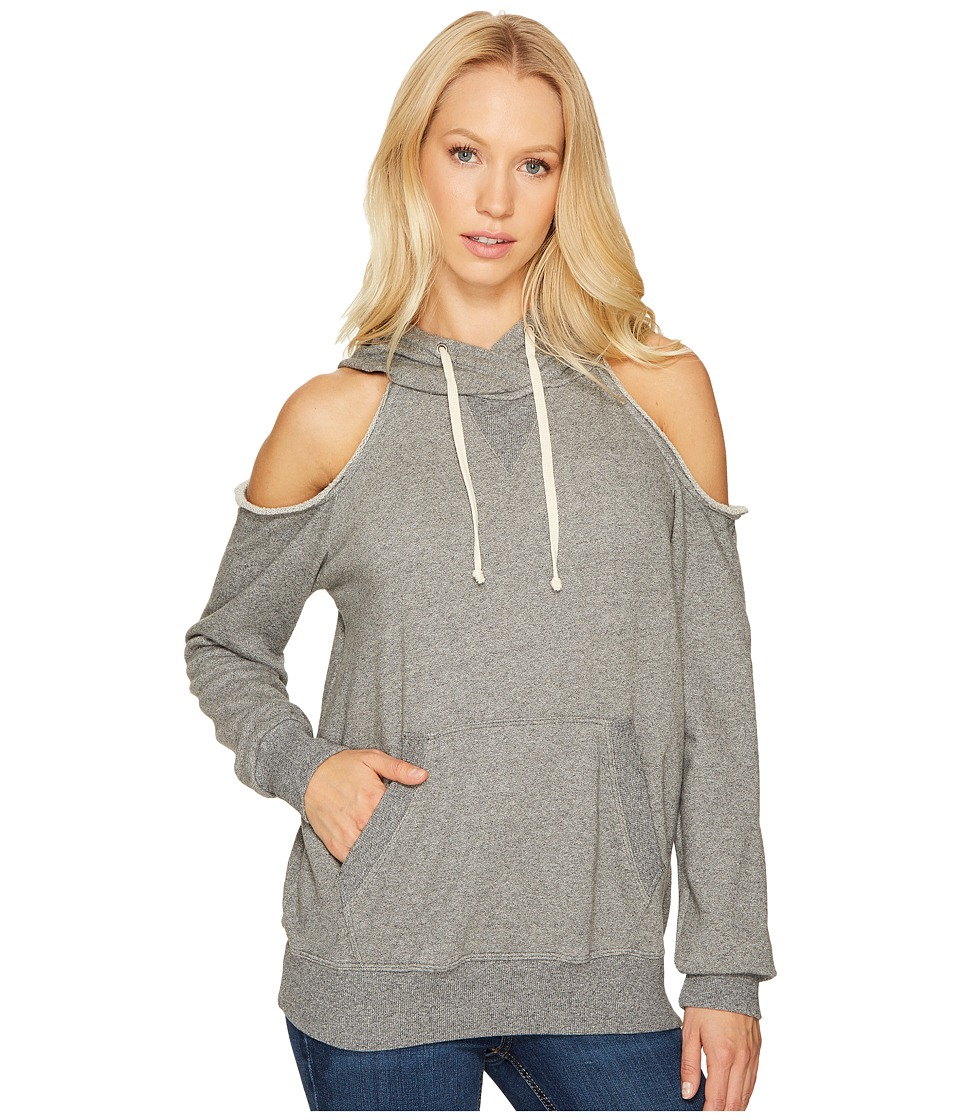 Splendid - Cold Shoulder Sweatshirt (Marble Grey) Women's Sweatshirt