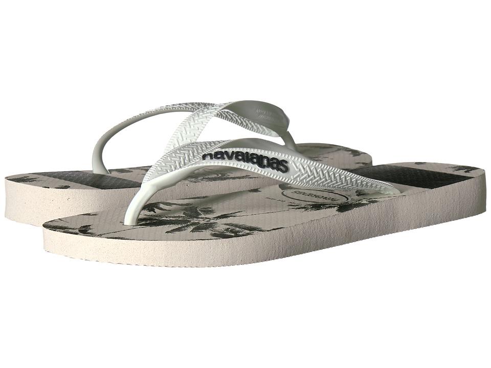 Havaianas Top Stripes Logo Sandal (Black/White) Men