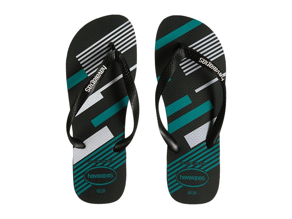 Havaianas Trend Geo Sandal (Black/White) Men