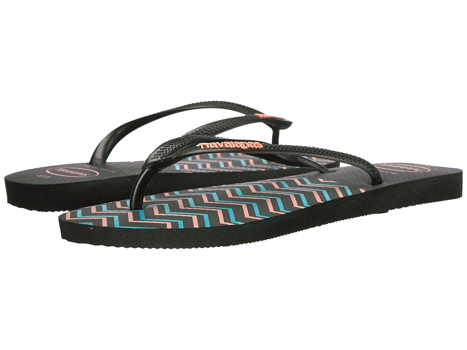 Havaianas - Slim Zigzag Sandal (Black) Women's Sandals
