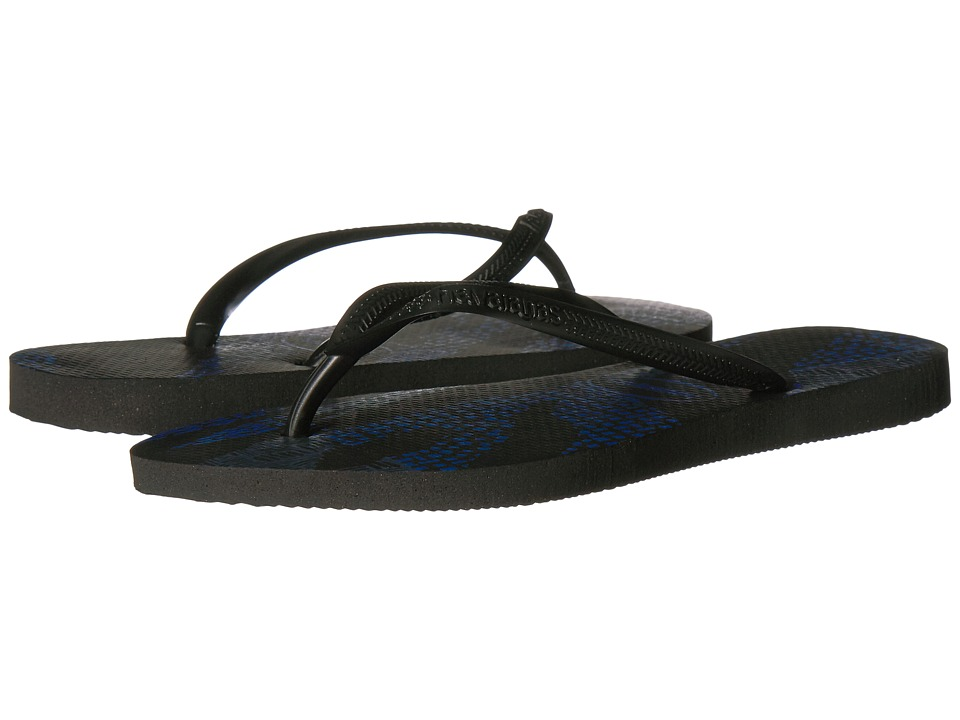 Havaianas Slim Native Sandal (Black/Blue) Women