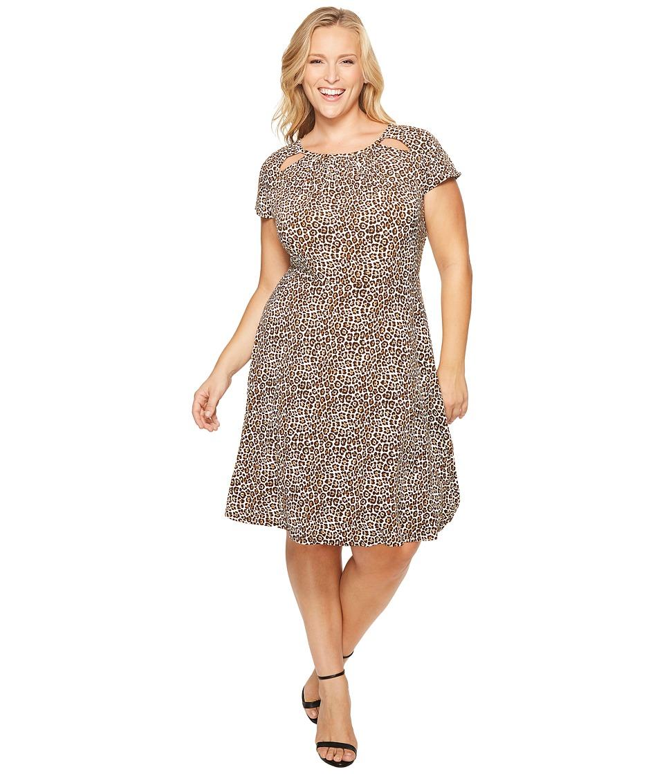 MICHAEL Michael Kors Plus Size Leo Shirred Neck Dress