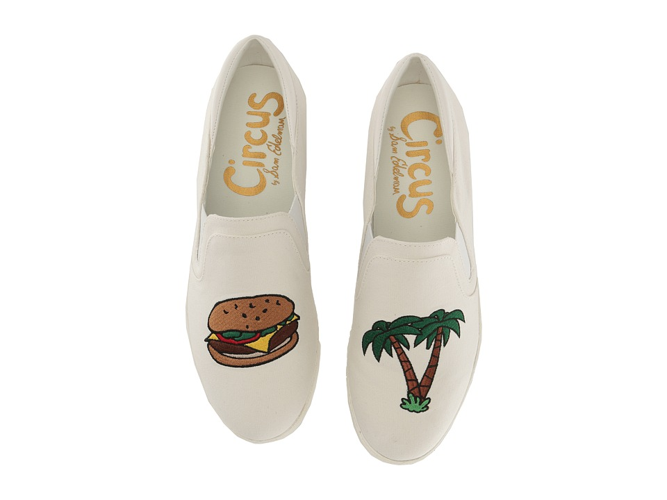 Circus by Sam Edelman - Charlie-19 (Cheeseburger In Paradise Washed Out Canvas/Sheep Nappa) Women's Slip on Shoes