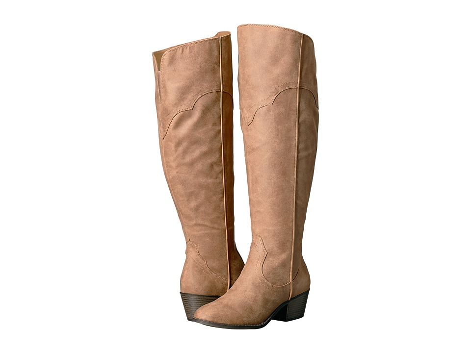 Fergalicious - Bata Wide Calf (Sand) Women's Wide Shaft Boots
