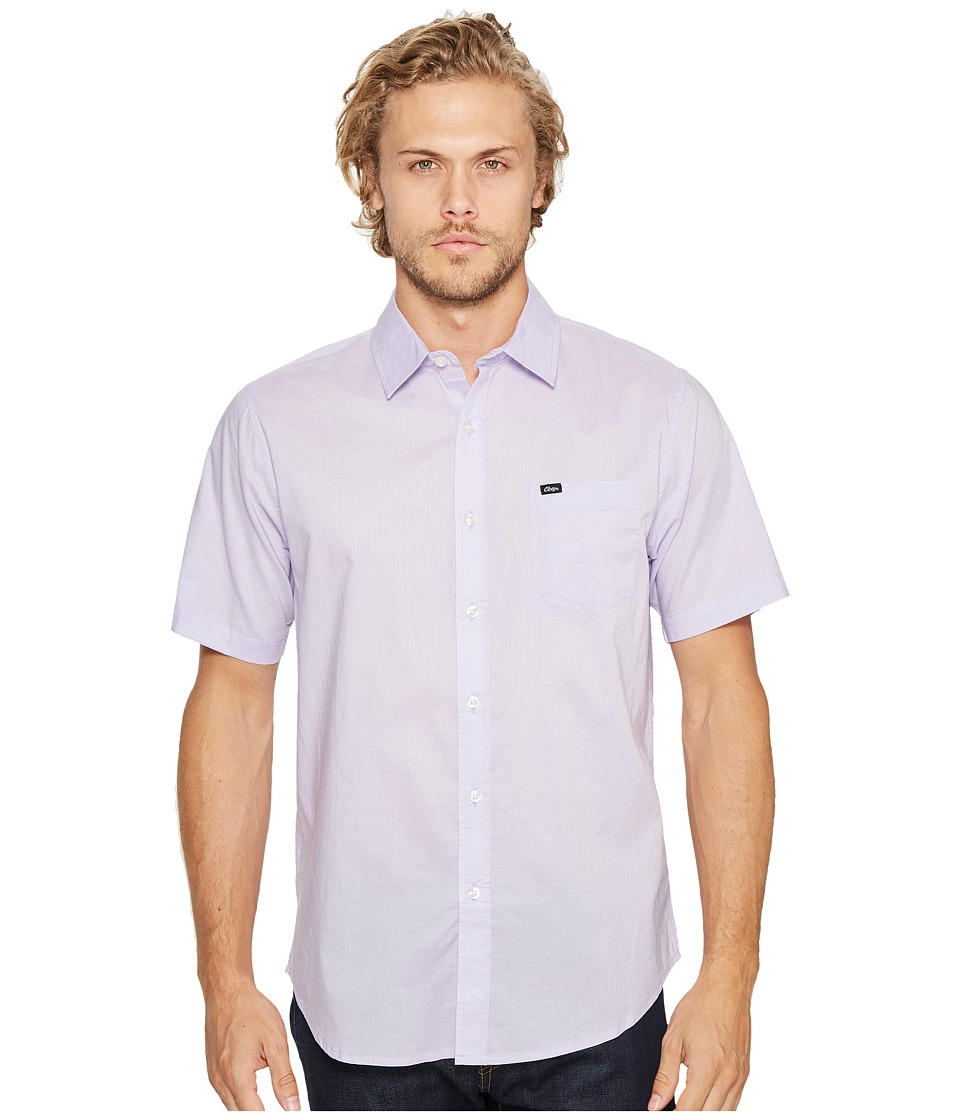 Obey - Lou Woven Short Sleeve Shirt (Lavender) Men's Short Sleeve Button Up