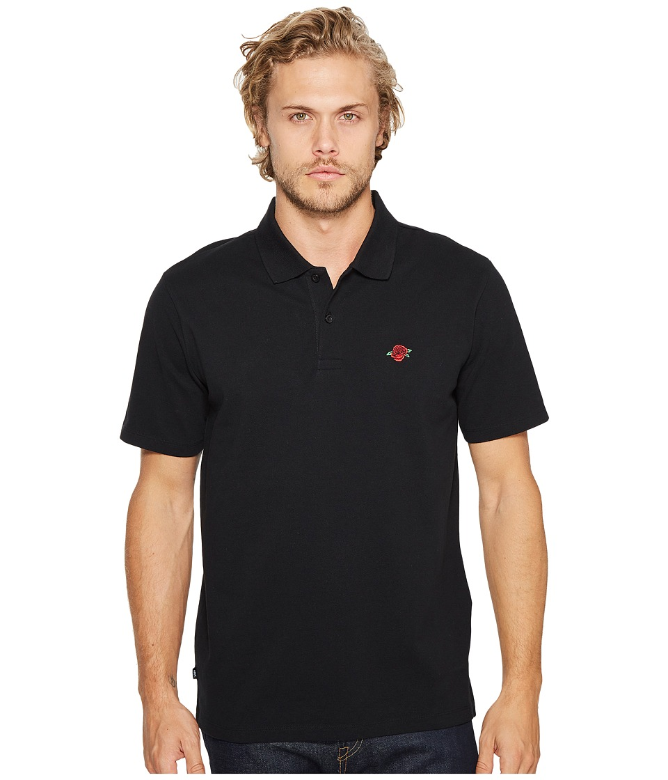 Obey - Rose Short Sleeve Polo (Black) Men's Short Sleeve Knit