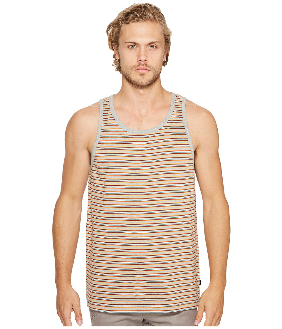 Obey - Reno Stripe Tank Top (Red Multi) Men's Sleeveless