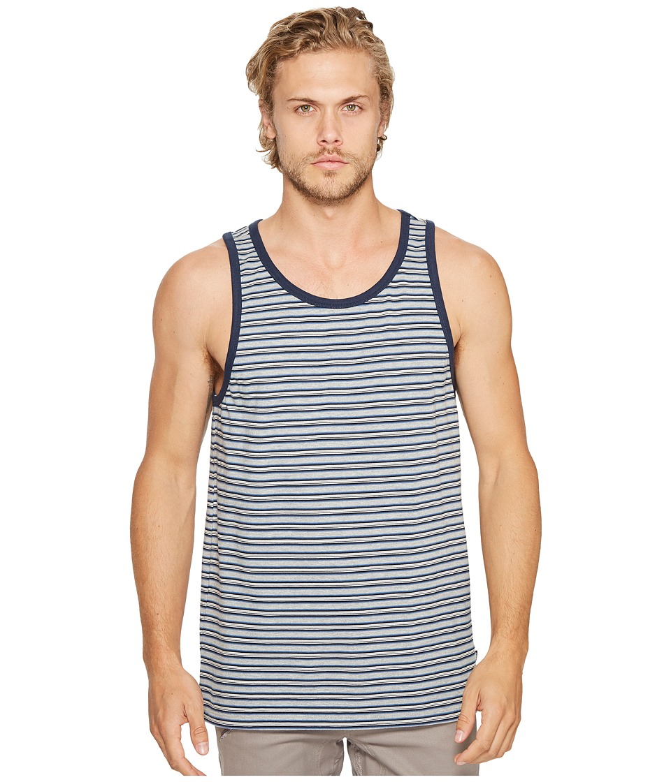 Obey - Reno Stripe Tank Top (Blue Multi) Men's Sleeveless