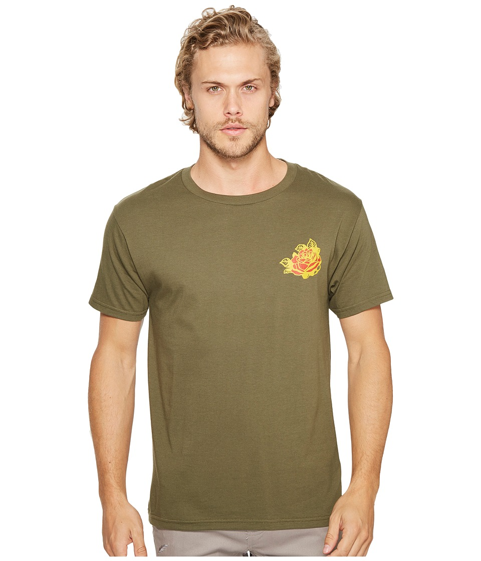 Obey - Kiss Me Deadly Tiger Tee (Military Olive) Men's T Shirt