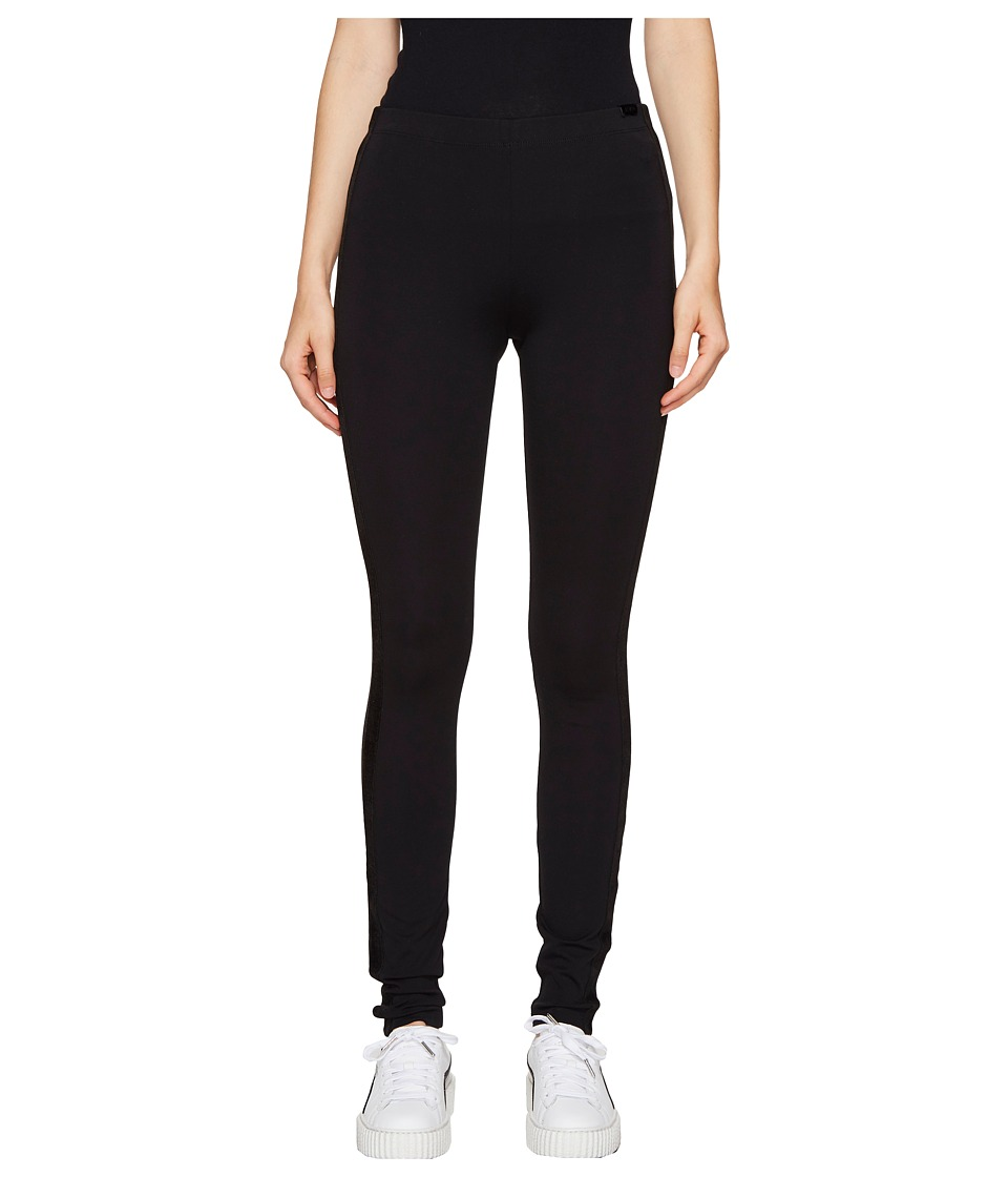 PUMA - Fenty Leggings w/ Velvet Taping (Black) Women's Casual Pants