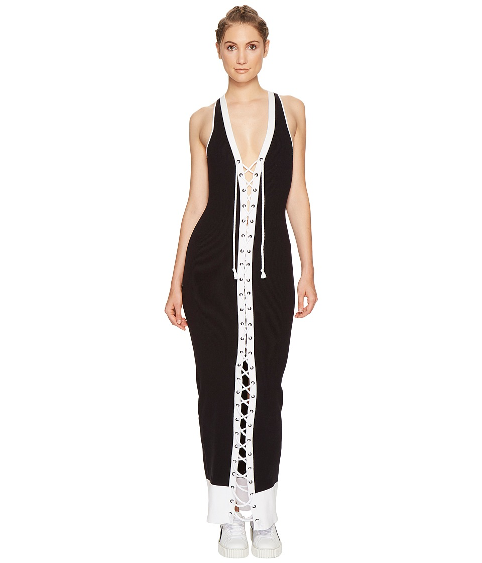 PUMA - Fenty Lacing Rib Dress (Black/White) Women's Dress