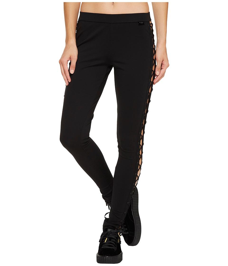 PUMA - Fenty Lacing Tights (Black) Women's Casual Pants