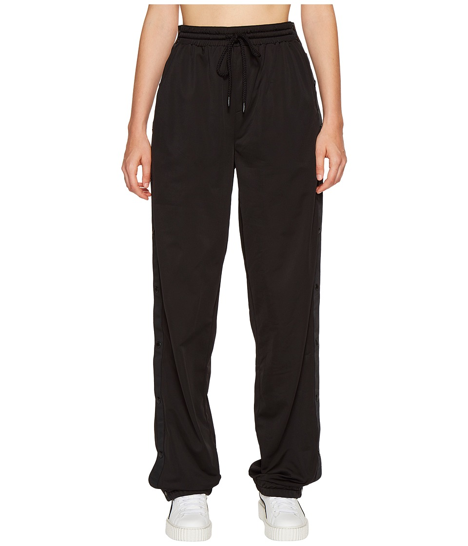 PUMA - Fenty Tearaway Track Pants (Black/White) Women's Casual Pants