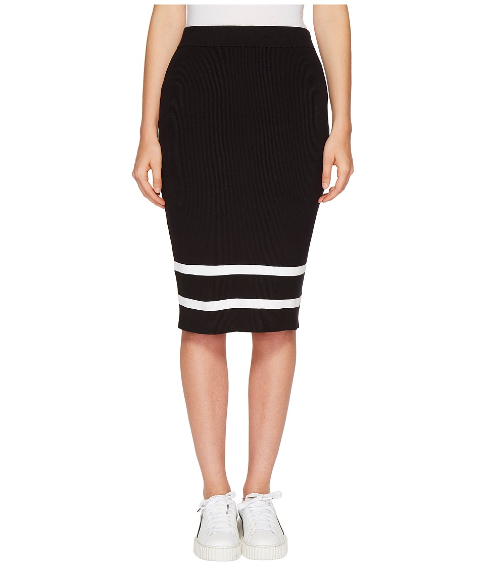 PUMA - Fenty Lacing Pencil Skirt (Black/Black) Women's Skirt