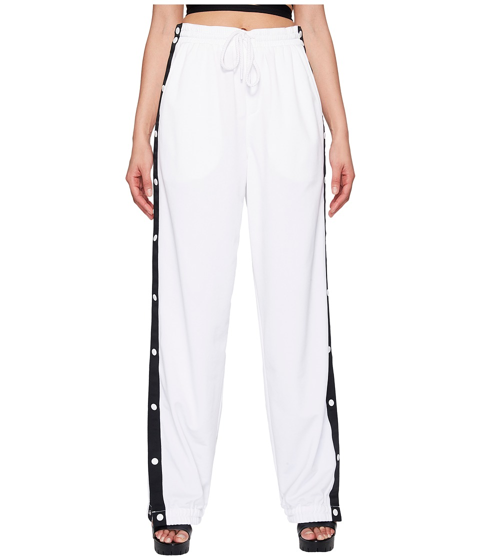 PUMA - Fenty Tearaway Track Pants (White/Black) Women's Casual Pants