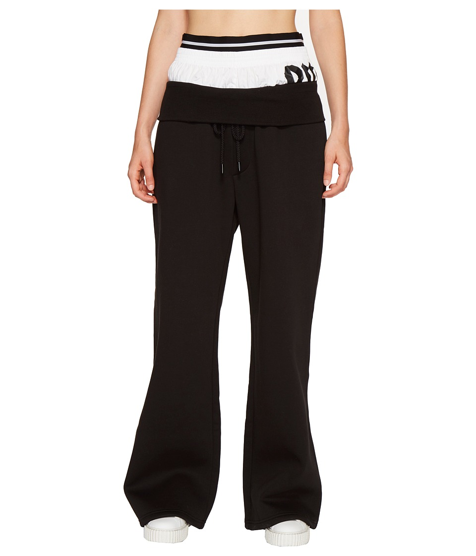 PUMA - Fenty Triple Waistband Sweatpants (Black/White) Women's Casual Pants