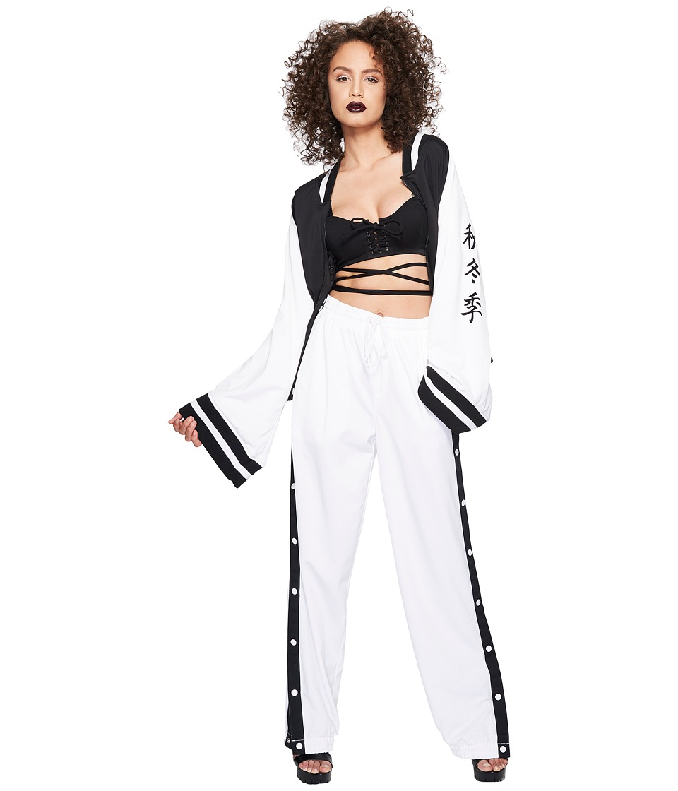 PUMA - Fenty Kimono Tricot Track Jacket (Black/White) Women's Coat