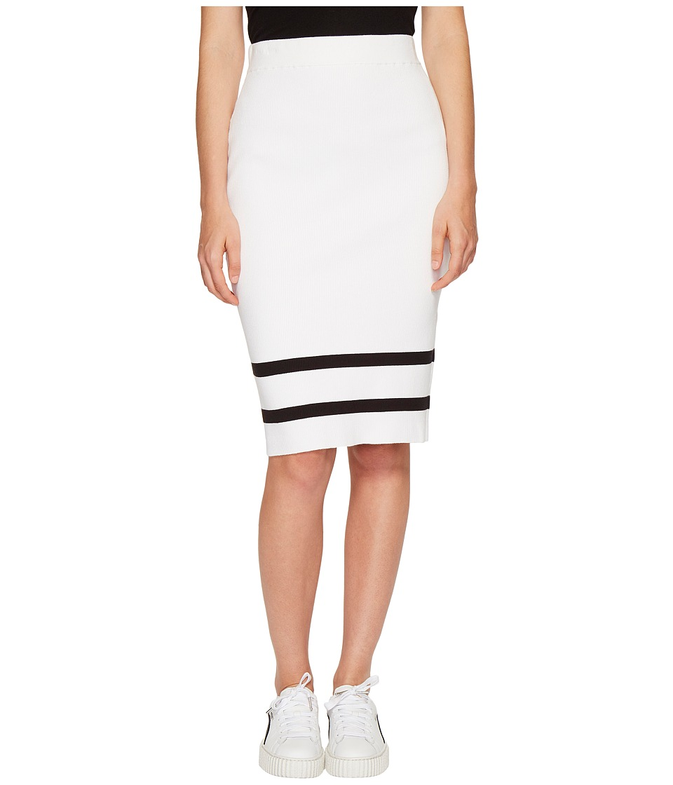 PUMA - Fenty Lacing Pencil Skirt (White/Black) Women's Skirt