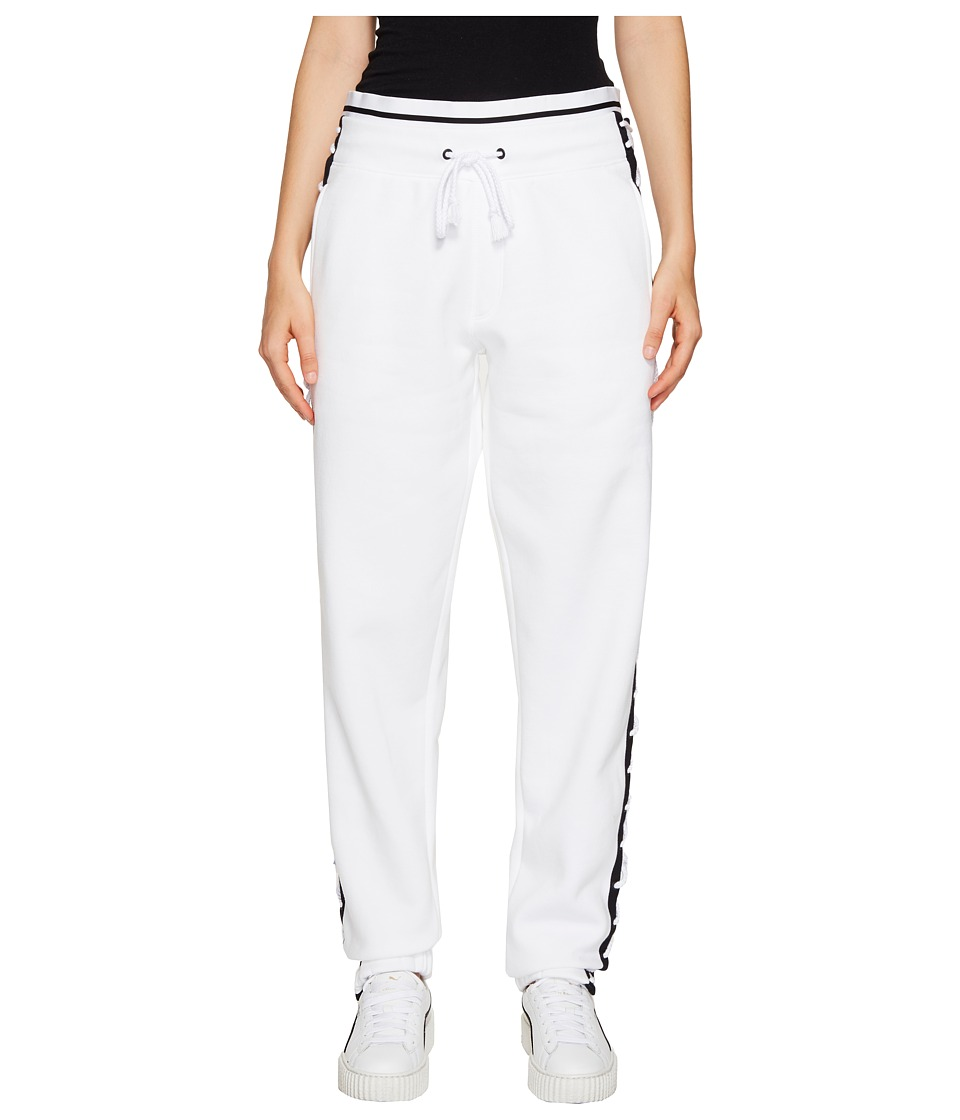 PUMA - Fenty Lacing Sweatpants (White/Black) Women's Casual Pants