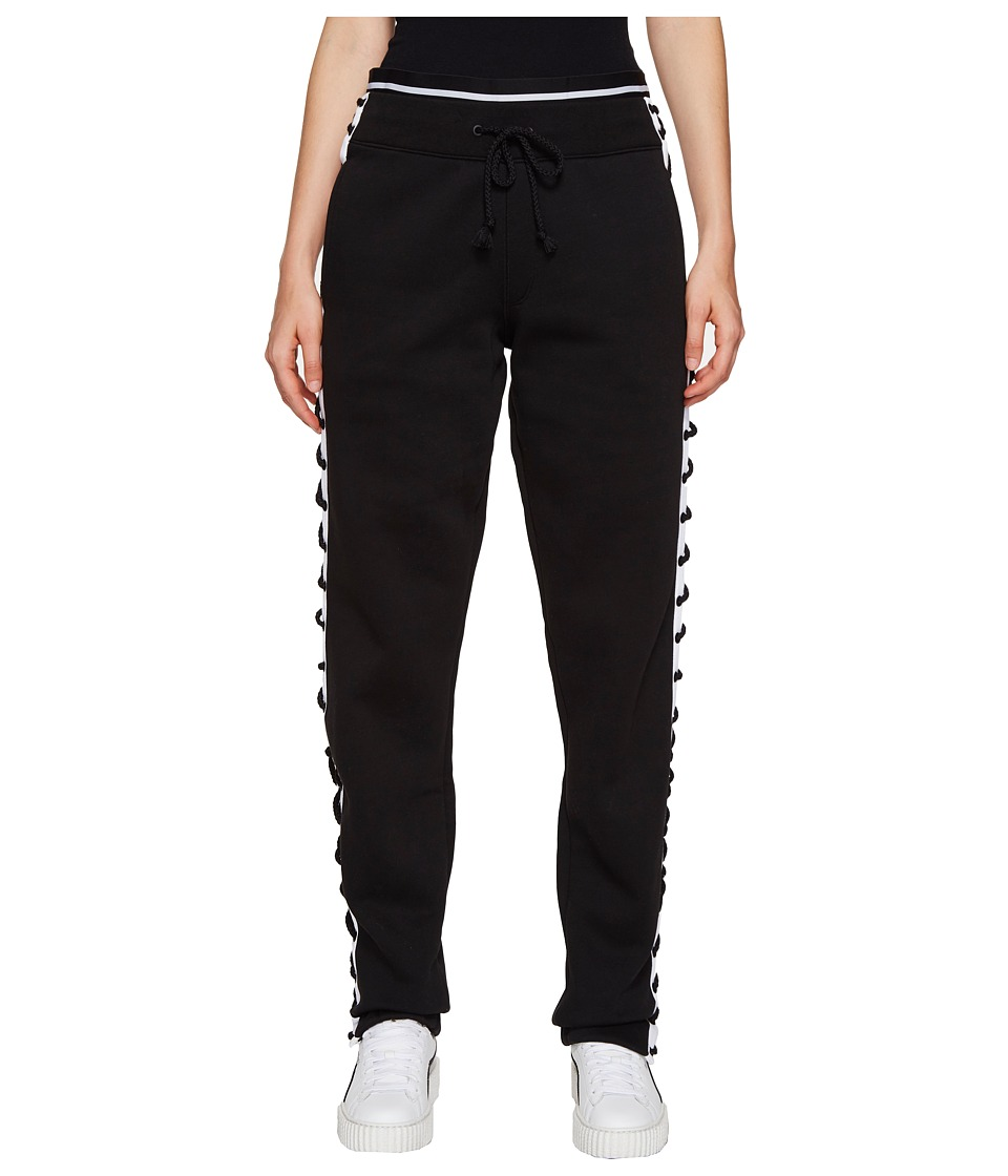 PUMA - Fenty Lacing Sweatpants (Black/White) Women's Casual Pants