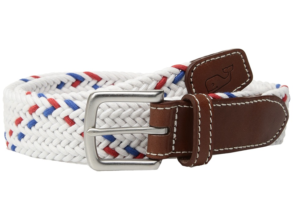 Vineyard Vines - Rope Stripe Bungee Belt (White Cap) Men's Belts