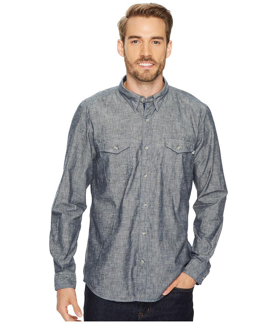 Timberland Long Sleeve Mumford River Camo Chambray Shirt (Dark Sapphire Yarn-Dye) Men