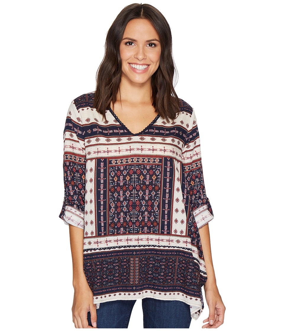Dylan by True Grit Recycled Cotton Prints Cassidy Tunic (Indigo) Women