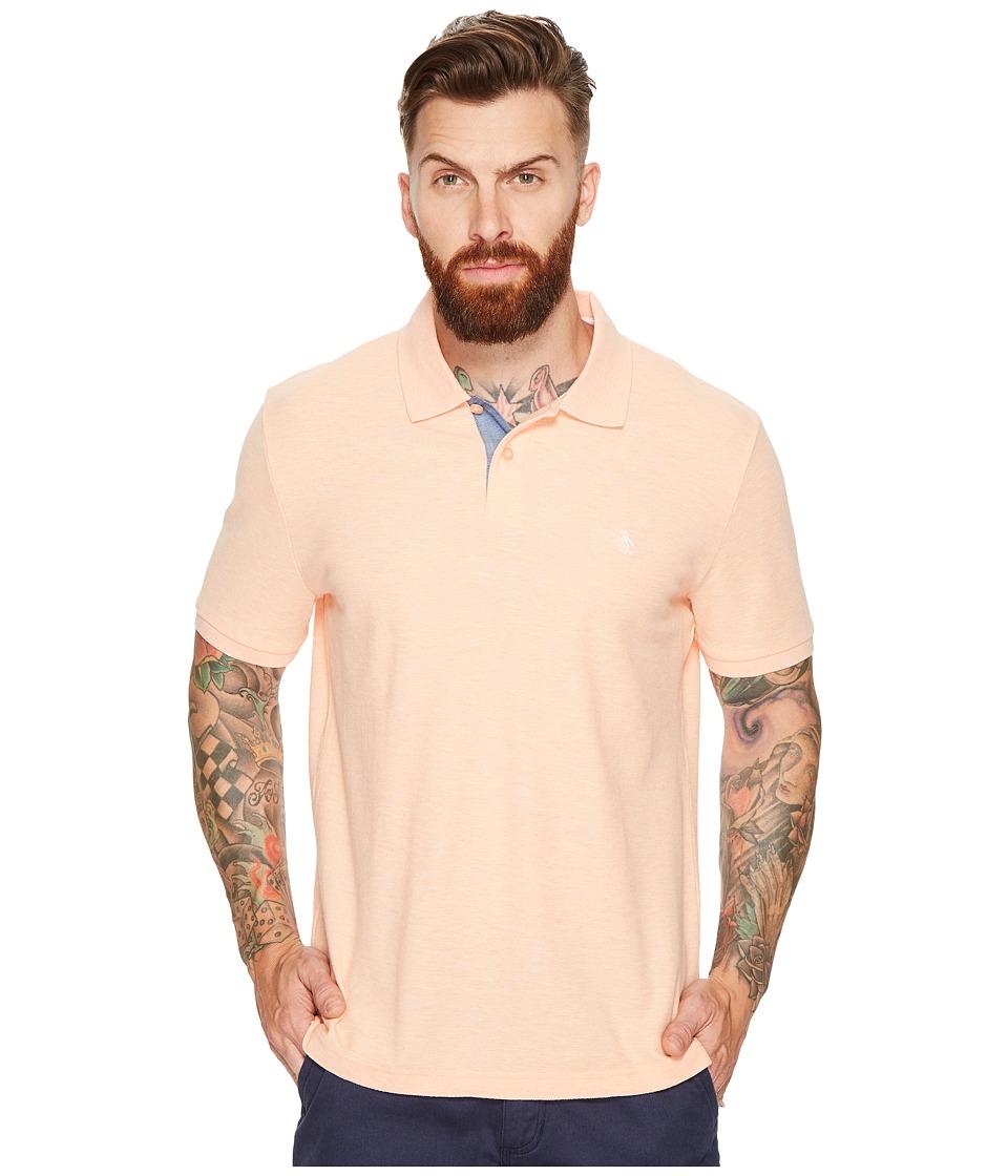 Original Penguin - Daddy-O Polo (Peach Cobbler) Men's Short Sleeve Pullover
