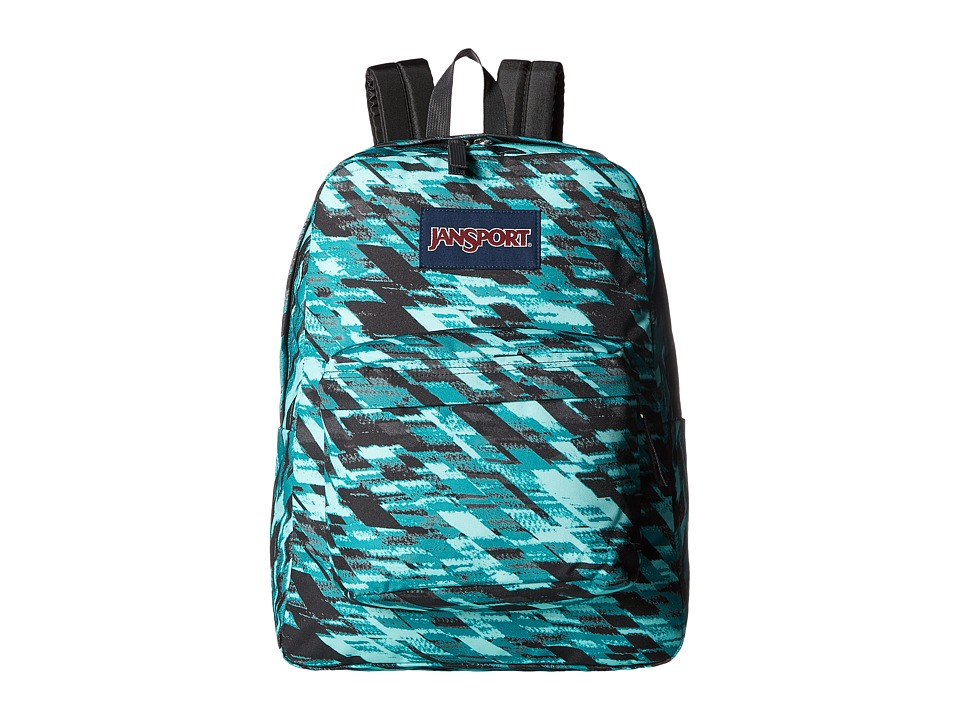 JanSport - SuperBreak (Aqua Dash Static) Backpack Bags
